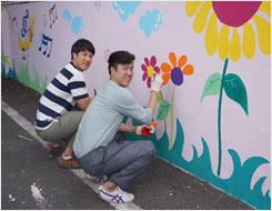 9. 11 진영 밀포마을 벽화그리기 참여